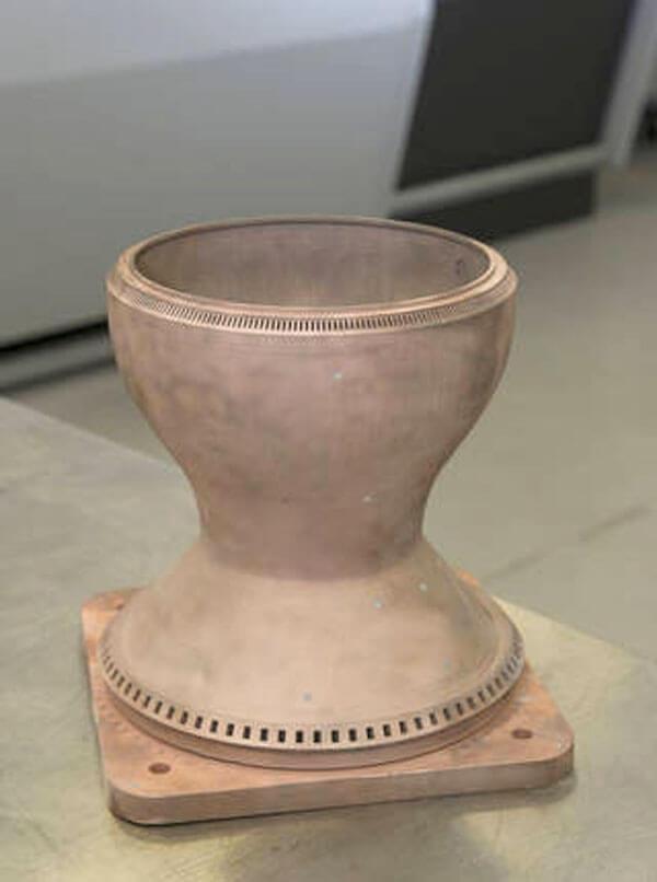 Уникальная медная камера сгорания ракетного двигателя впервые изготовлена с помощью 3D-печати