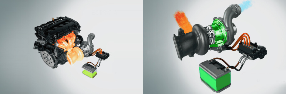 Ключевое отличие системы Гарретта от конкурирующих: в некоторых режимах электромотор обращается в генератор и не раскручивает компрессорное колесо, а собирает энергию выхлопных газов, превращая её в электричество для подзарядки батареи (получается аналог формульного блока MGU-H)