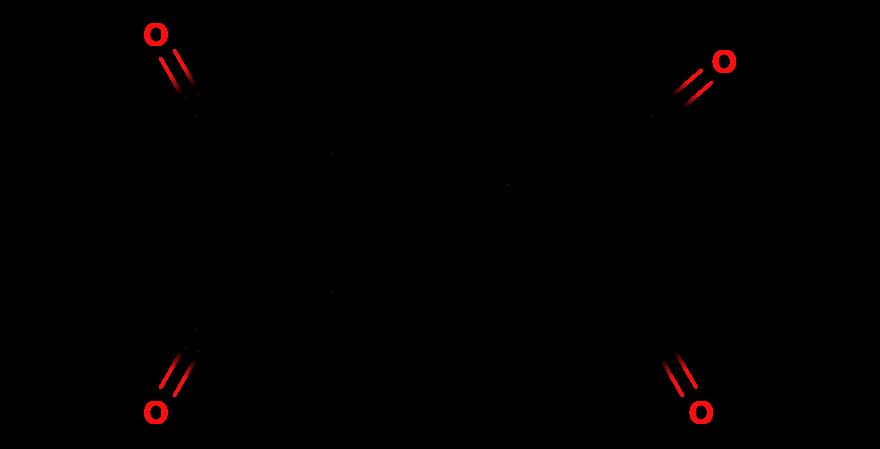 Структурная формула пирен-4,5,9,10-тетраона. Это вещество получается из каменноугольной смолы, и его синтез относительно прост