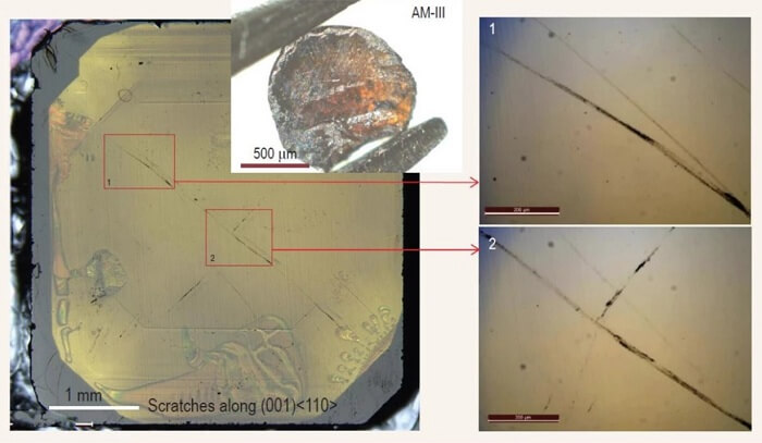 Ученые создали настолько прочное стекло, что им можно поцарапать алмаз