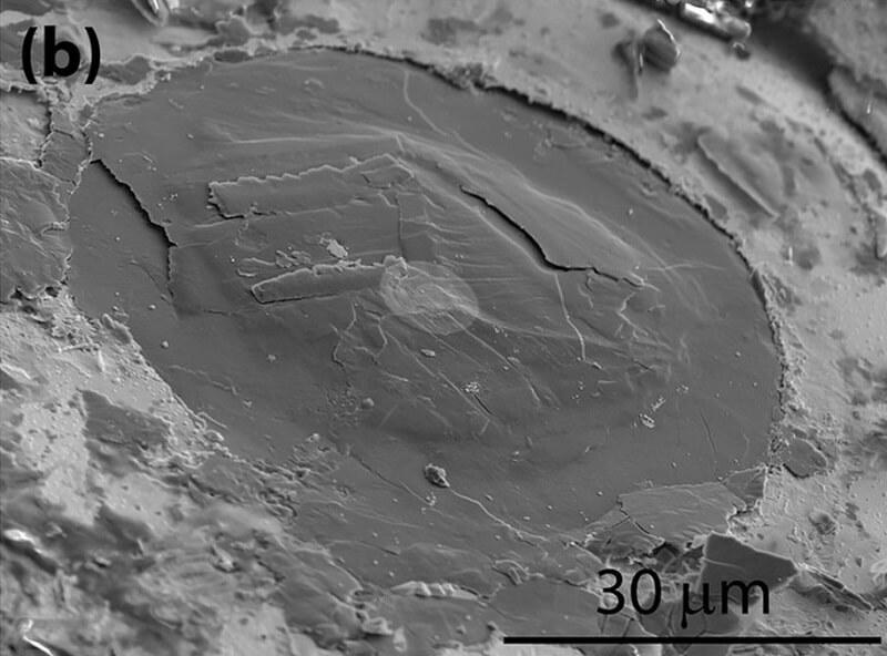 Алмаз и лонсдейлит под электронным микроскопом