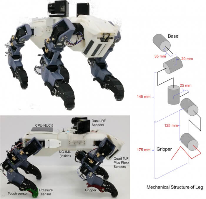 В Японии создали четырехногого робота, способного взбираться по вертикальным лестницам