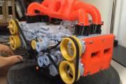 Точная копия двигателя Subaru из 3D-принтера