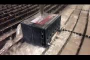 Гидроабразивная резка аккумулятора