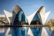 Здание океанографического парка Валенсии - один из характерных примеров творчества Феликса Канделы